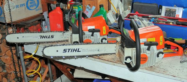 Stihl 025 - bar and chain in Chainsaws