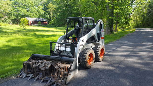 Will a skid steer pull down trees? in Forestry and Logging