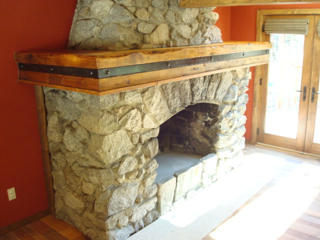 wrap around fireplace mantel. Hollow mantels lend themselves to being curved  oddball shapes and can be easily jointed go around corners wrap style hollow fireplace mantle in General Woodworking