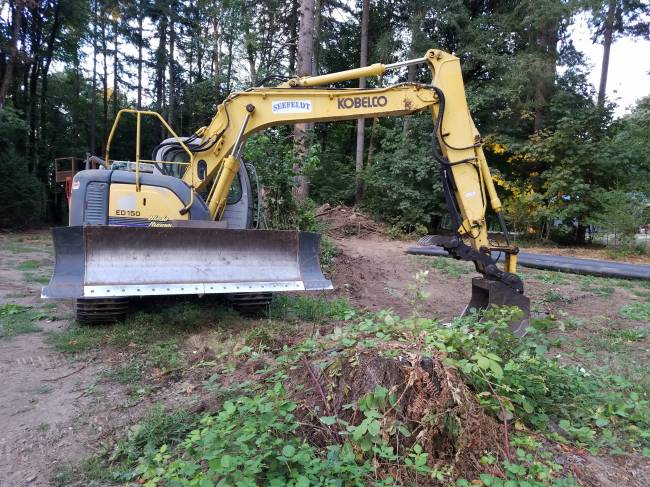 Another tool for use around the woodlot - Kobelco ED150 BladeRunner