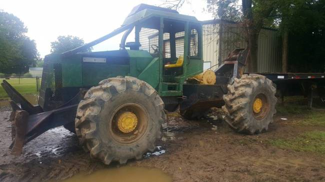 Cat 525B vs  TJ 450C in Forestry and Logging