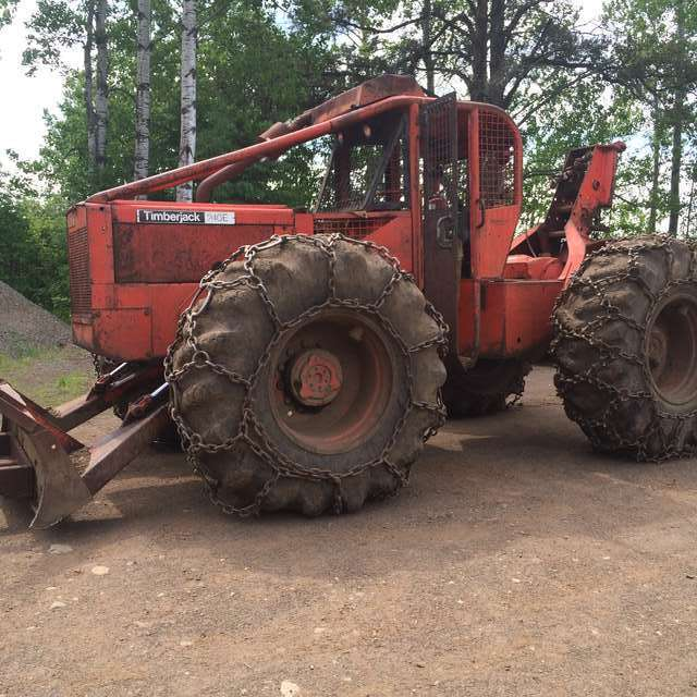 Timberjack 240 tire size for in snow in Forestry and Logging