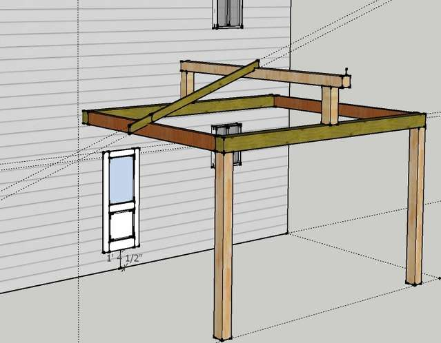 Attaching Open Gable Roof to House in Timber Framing/Log construction
