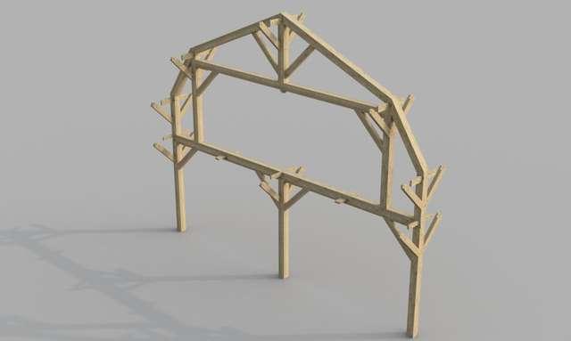30X40 Barn Workshop/Garage in Timber Framing/Log construction