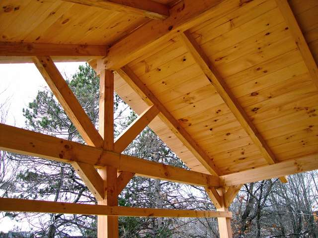 Roof Over Deck In Timber Framing