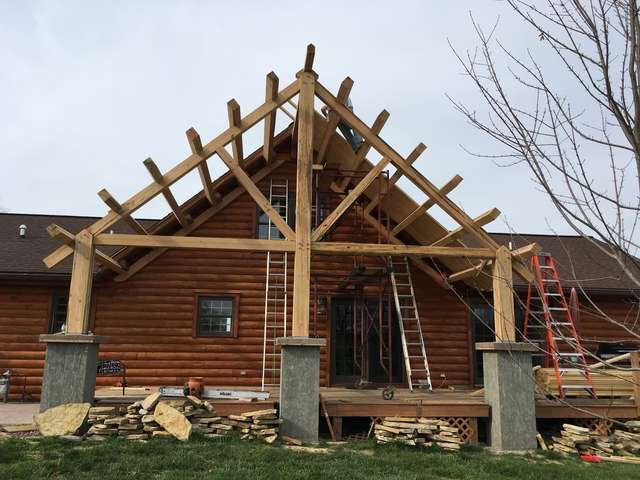 ... Busy The Past Few Months And Just Wanted To Show The Progress Iu0027ve Made  On My Timber Frame Roof Over My Deck And Thank Those On Here For Their Help.