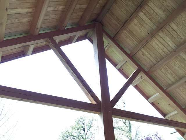 Need help designing roof over deck in Timber Framing/Log construction