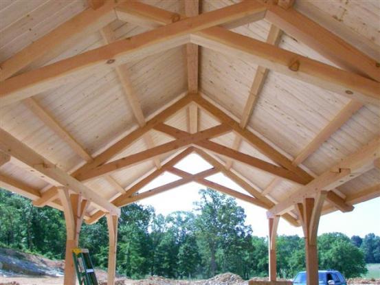 Scissor Truss & Racking in Timber Framing/Log construction